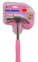 18 Units of Tubular Claw Hammer 8 Ounce Pink - Hammers