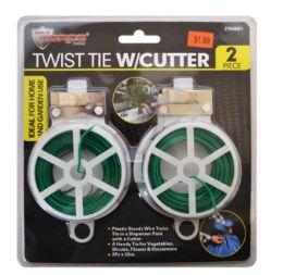 60 Units of Twist Tie With Cutter 2 Piece - Wires