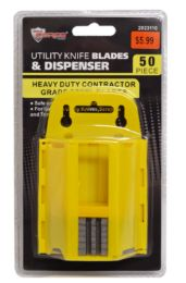 24 Units of Utility Knife Blades With Dispenser 50 Piece - Box Cutters and Blades