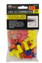 36 Units of Wire Nut Connectors 35 Piece Assorted - Tool Sets