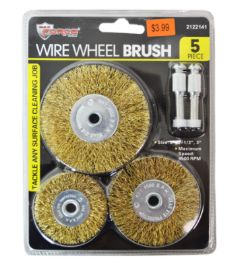 36 Units of Wire Wheel Brush Set 5 Piece - Tool Sets