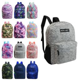 """24 Units of 17"""" Backpacks in 12 Assorted Colors - Backpacks 17"""""""