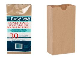 40 Units of Brown Paper Bags 30 Count - Lunch Bags & Accessories