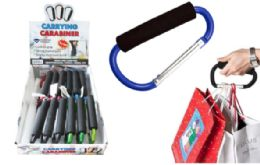 48 Wholesale Carrying Carabiner With Foam Grip 4.5 Inches
