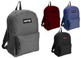 "24 Units of 17"" Classic Sport Backpacks w/ Front Zipper Pockets - Backpacks"