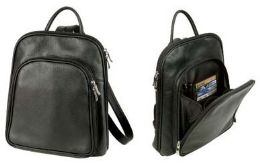 "10 Units of 11"" Leather Backpacks - Backpacks"