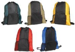 "72 Units of 19"" Islander Drawstring Tote/Backpack In One - Backpacks"
