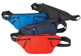 72 Units of Poly Four Zipper Fanny Pack - Fanny Pack