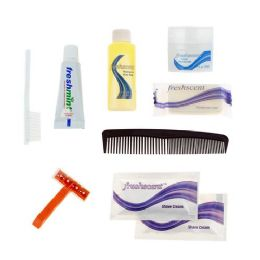 96 Units of 9 Piece Deluxe Bulk Hygiene Kits for Personal Use, Homeless, Charity - Wholesale Hotel Toiletries - Hygiene Gear