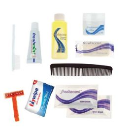 96 Units of 10 Piece Deluxe Bulk Hygiene Kits for Personal Use, Homeless, Charity - Wholesale Hotel Toiletries - Hygiene Gear