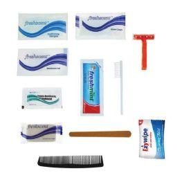 96 Bulk 12 Piece Basic Bulk Hygiene Kits for Men, Women, Travel, Charity - Wholesale Hotel Toiletries