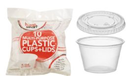 72 Units of Plastic Cups With Lids - Plastic Drinkware