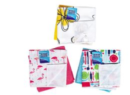 48 Units of Scrubber Dish Cloth With Prints 2 Pack - Kitchen Towels