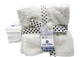 24 Units of Wash Cloths 10 Pack - Towels