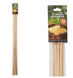 72 Units of Xlarge Wood Skewers - BBQ supplies