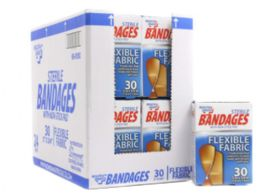 72 Units of Bandages 30 Count Fabric - Bandages and Support Wraps