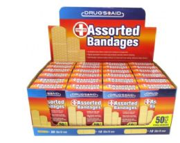 72 Units of Bandages 50 Count Fabric - Bandages and Support Wraps