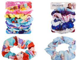 24 Bulk Disney Hair Scrunchies 7 Pack