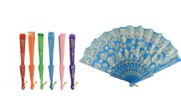 60 Units of Folding Fan Metallic - Novelty Toys