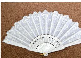72 Units of Folding Fan White - Novelty Toys