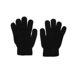 48 Bulk Winter Gloves in Black - Cold Weather Case of 48 Glove Pairs