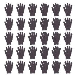 48 Units of Gloves Unisex Winter Cold Weather Thermal in Grey - Winter Gloves