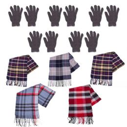 96 Bulk 96 Pack - Wholesale Winter Gloves and Bulk Scarves - Homeless Care Package Supplies