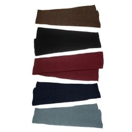48 Bulk Unisex Winter Scarf in 5 Assorted Colors