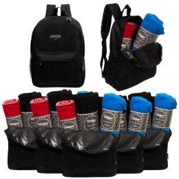 12 Bulk 12 Backpacks and 12 Winter Throw Blankets