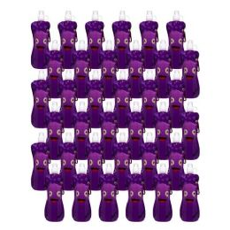 96 Units of Collapsible Foldable Water Bottle With Carabiner in Purple Monster - Drinking Water Bottle