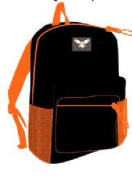 24 of 15 Inch Basic Backpack Assorted Colors