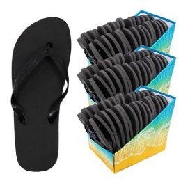 48 Units of Flip Flop - Black Bulk - Women's Flip Flops