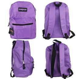 "12 Units of 17"" Classic Backpacks - Purple - Backpacks 17"""