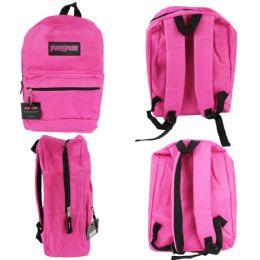 "12 Units of 15"" Classic Backpacks - Pink - Backpacks"