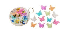 96 Bulk Mini Butterfly Hair Clip 12 Count