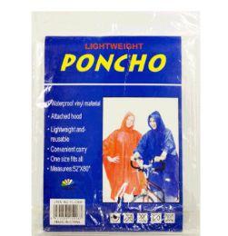 48 Wholesale Rain Poncho Adult