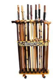 Wholesale Wood Display Rack For Canes Walking Sticks