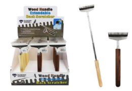 24 of Wood Handle Extendable Back Scratcher