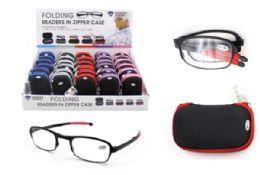 30 Wholesale Folding Readers In Zipper Case