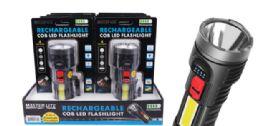 8 Units of Rechargeable Cob LED Flashlight - Flash Lights