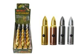 36 Bulk Mini 50 Cal Bullet LED Flashlights