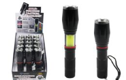 15 Bulk Multi Functional Tactical Cob LED Flashlight