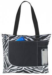 "48 Units of 17"" Tote Bags - Zebra Print - Tote Bags & Slings"