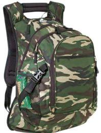 "12 Units of 15"" Deluxe Camo Computer Backpacks - Backpacks"