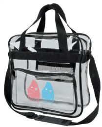 """24 Units of 12"""" Clear Messenger Bags - Bags Of All Types"""