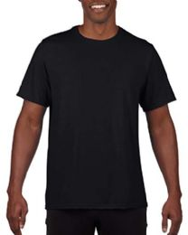 24 Wholesale Mens Cotton Crew Neck Short Sleeve T-Shirts Black, Small