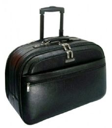 Full Grain Leather Carry-On Rolling Briefcase - Bags Of All Types