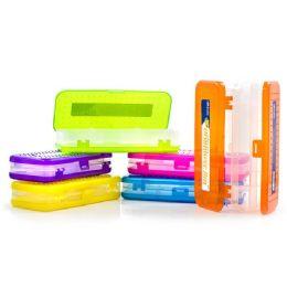 "24 Wholesale 8"" Bright Color Double Deck Organizer Box"