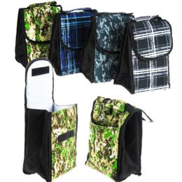 24 Bulk Insulated Lunch Bags - Assorted Prints