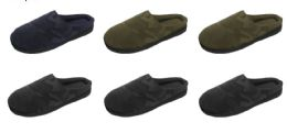 36 Units of Men's Camo Printed Clog Slippers - Assorted Colors - Men's Slippers